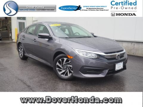 Certified Pre-Owned 2018 Honda Civic EX FWD 4D Sedan